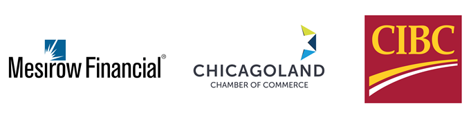 Mesirow Financial, Chicagoland Chamber of Commerce, and CIBC Logos